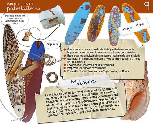 taller musica prehistoria Arqueopinto