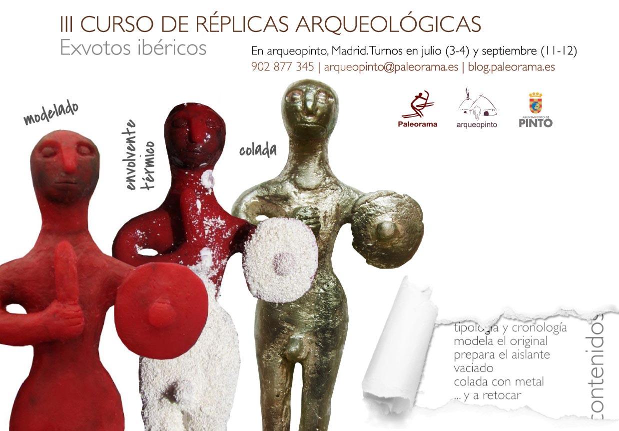 Curso de replicas y reproducciones arqueologicas exvotos ibericos a la cera perdida