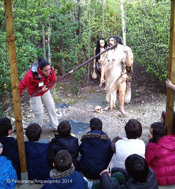 Visita Fundación sindrome de down en Arqueopinto. PAleorama SL