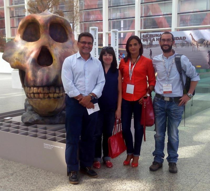 manuel luque cortina, Marta Burgos, María Barahona y Raúl Maqueda en el Congreso Mundial de Prehistoria UISPP 2014